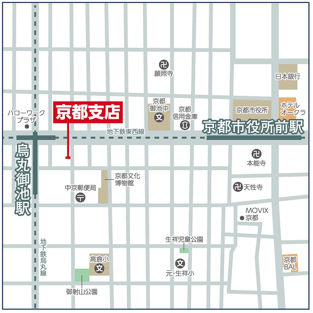 京都支店マップ